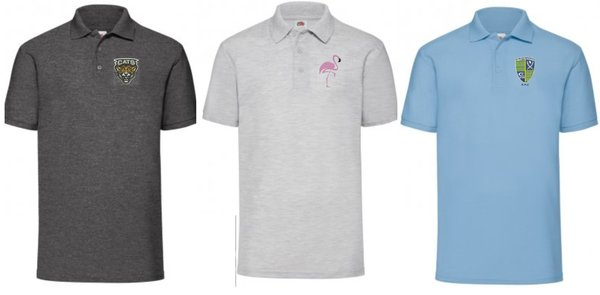 Embroidered Polo shirt in various colours.