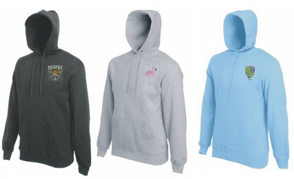 Embroidered Hoods in various colours