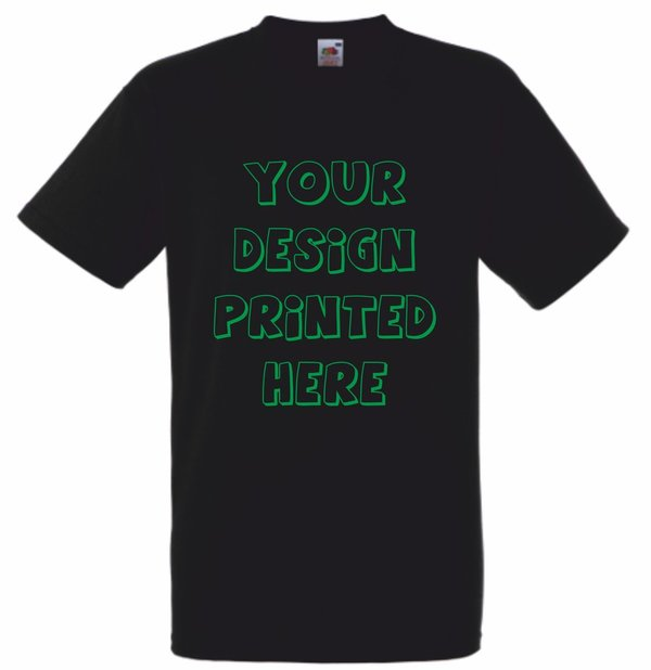 1 Colour Screen Print Black T-shirts